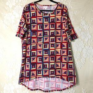 LuLaRoe Geometric Print Irma Tunic Shirt